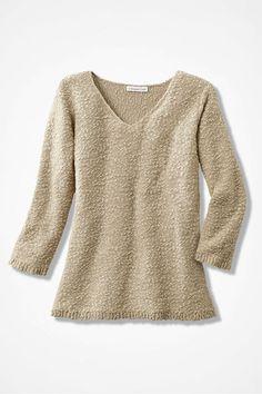 Classic Textured Sweater, Brushed Khaki