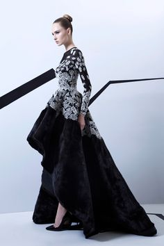 "Rami Kadi's FW 2015-16 Couture collection, entitled ""Lucioles"". | Via Style.com Arabia | WedLuxe Magazine #Couture #designerdress"