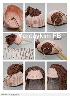 Amigurumi is one of the stages of making amigurumi toys, making baby hair. Located on the site – Salvabrani Amigurumi is one of the stages of making amigurumi toys, making baby hair. Located on the site – Salvabrani