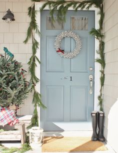 Rustic Retreat-Holiday Front Door Christmas