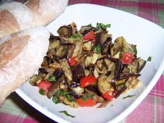 Grilled Eggplant Salad.  Recipes from Sicily: you can make in minutes using all natural healthy ingredients.