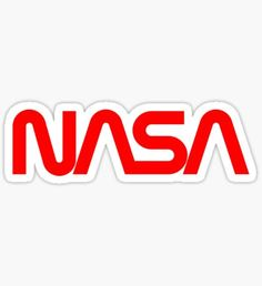 """TYPE (NASA) - Logan Wiggins  This is the classic """"Worm Logo"""" used for NASA from 1975 until 1992.  In '92 the logo changed to incorporate more symbols while keeping the NASA in the center."""