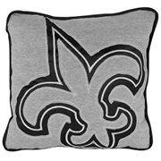 New Orleans Saints Big Logo Reverse Applique Pillow - Gray/Black