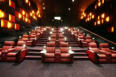 A Premium Verona and Premium Opus cinema seating solution designed by Ferco for Cinema City Luxury Movie Theater, Cinema Theatre, Cinema Room, Home Theater, Cinema Seats, Dream House Interior, Screen Design, Sharjah, Verona