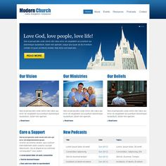 Template 44129 modern church responsive website template with clean and effective church website template design psd at affordable price church and religious example maxwellsz