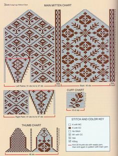 Crochet Mittens Free Pattern, Knitted Gloves, Designer Knitting Patterns, Knitting Designs, Knitting Projects, Knitting Charts, Knitting Stitches, Counted Cross Stitches, Groomsmen