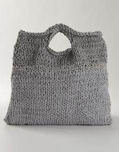 wool & the gang - zigazig shopper: hand-knit off-cut fabric yarn
