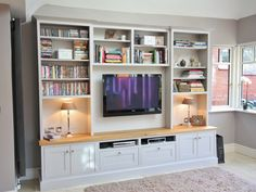 Painted_tv_unit_bespoke_cabinetry_enigma_wicklow_4 | Built in living ...