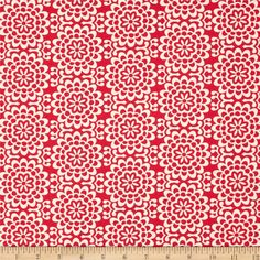 Amy Butler True Colors Wallflower Poppy from @fabricdotcom  Designed by Amy Butler for Westminster/Rowan, this cotton print is perfect for quilting, apparel and home decor accents.  Colors include cream and poppy red.