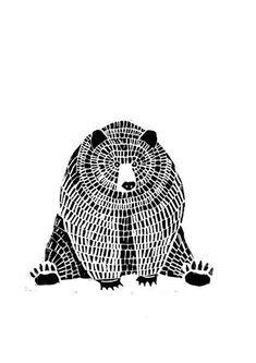 Originaldruck – Sitzender Bär – Linoldruck – ein Designerstück von WeDoCutPrint bei DaWanda Listed in advertisingmarket … we recommend several platforms that have quality online, as well as diverse themes and specifics. Inspiration Art, Art Inspo, Gravure Illustration, Illustration Art, Art D'ours, Linocut Prints, Art Prints, Block Prints, Linoprint