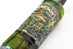 Design that I made for Jameson Whiskey to celebrate St Patrick's day across the globe in 2012 and Jameson Irish Whiskey, Irish Whiskey Brands, St Patricks Day Drinks, David Smith, Green Beer, Label Design, Packaging Design, Graphic Design, Bottle Painting