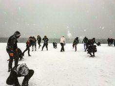 Snowball fight #thessaloniki #youth_thessaloniki Winter Day, Winter Holidays, Snowball Fight, Thessaloniki, Places, Youth, Travel, Outdoor, Outdoors