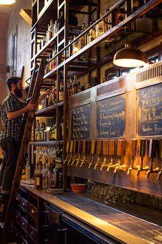Smokestack at Magnolia Brewing Company. Brewery Interior, Pub Interior, Bar Interior Design, Brewery Design, Pub Design, Bar Restaurant, Restaurant Design, Bar A Vin, Beer Shop