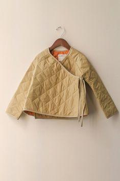 boy+girl Kimono Baby Jacket in Khaki Puff Baby Kimono, Ethno Style, Kimono Jacket, Kids Fashion, Fashion Design, Mode Inspiration, Quilted Jacket, What To Wear, Girl Outfits