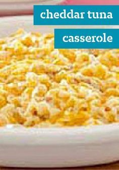 Cheddar Tuna Casserole – What do you get when you add cheddar cheese to tuna noodle casserole? Comfort food to the max: it's like mac & cheese and tuna noodle casserole all in one.