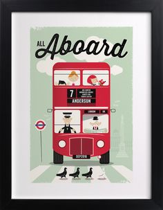 All Aboard print | Minted