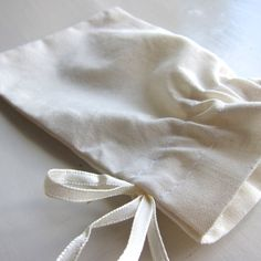 50 pcs  2 x 3  small muslin cotton gift bags by WorldOfWillows