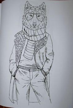 Wolf from Urban Chic mandala