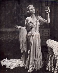 Jessica Tandy as Blanche Dubois/.....in Streetcar Named Desire on stage.