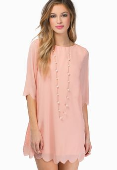 robe rose décontracté printemps mousseline à mi-manche - found at sheinside.com €20,11