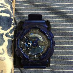 Casio Gshock (metallic blue) watch Never worn brand new g shock metallic blue watch. No box or paper work. 100 percent authentic. Reasonable offers please. Casio g shock Accessories Watches