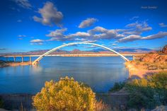 Roosevelt dam bridge - this is the bridge where Apache trail (claimed to be one of the most challenging/scenic drives in the country ends. Dare to take a drive there?