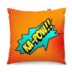Comic Ka-Pow Orange Sofa Cushion - 2 Sizes