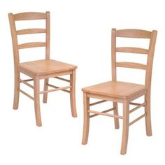 Hannah Dining Wood Side Chairs in Light Oak Finish (Set of 2)