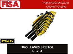 JGO LLAVES BRISTOL 69-254. Fabricados en acero cromo vanadio- FERRETERIA INDUSTRIAL -FISA S.A.S Carrera 25 # 17 - 64 Teléfono: 201 05 55 www.fisa.com.co/ Twitter:@FISA_Colombia Facebook: Ferreteria Industrial FISA Colombia