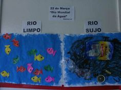 rio limpo rio sujo dia da agua Fun Classroom Activities, Classroom Fun, Waldorf Montessori, Water Day, Sistema Solar, Edd, Diy For Kids, Teaching, Education