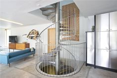 6 bedroom detached house for sale in Bushy Park, Richmond, Hampton, London, - Rightmove. Take The Stairs, Pretty Bedroom, Spiral Staircase, Interior Architecture, Property For Sale, Bedrooms, Metallic, Houses, The Originals