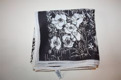 Vintage Vera Scarf: Black and White Floral Fun by FelicesFinds