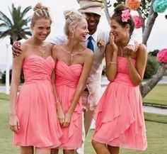66 Beautiful Bridesmaids' Dresses For Beach Weddings | Weddingomania