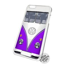 Mini Bus Chrome Logo Vw Purple Cell Phones Cases For iPhone, Samsung Galaxy