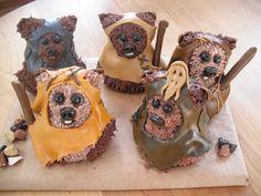 Ewok Cupcakes - Star Wars