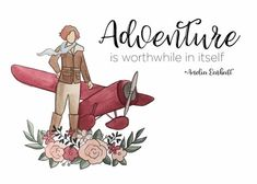 """Amelia Earhart watercolor print """"Adventure is worthwhile in itself"""" Printed on poly-cotton studio watercolor paper. It is textured, very durable, and makes for vibrant prints that look like originals! Joy Quotes, Quotes And Notes, Life Quotes, Watercolor Portraits, Watercolor Print, Watercolor Paper, Cedar City Temple, Amelia Earhart Quotes, Code Name Verity"""
