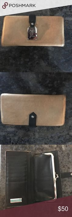 L.A.M.B tan leather wallet Tan leather L.A.M.B used but still great condition outside edges have some darker coloring wallet is very soft snap closure clasp closure for coins compartments for credit cards and 2 side compartments for money bought on posh it's too small for me so I'm re poshing let me no if you have. Any questions L.A.M.B. Bags Wallets