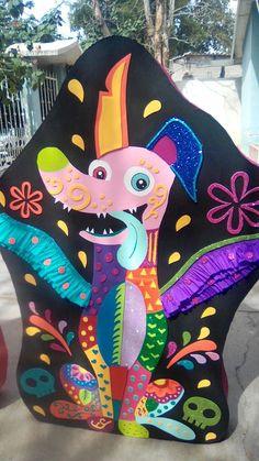 Piñata Dante alebrije (Coco) 4th Birthday Parties, Birthday Fun, Coco Disney, Halloween Decorations, Halloween Party, Mexican Party, Daddy, Fiesta Party, First Birthdays