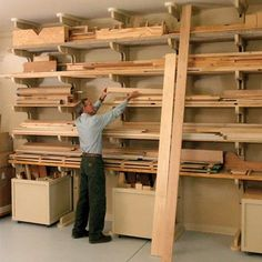 lumber organization | Woodworking workshop design and tool storage | FineWoodworking.com