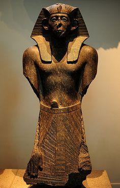 One of Three Black Granite Statues of King Sesostris III