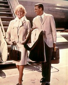 "Doris Day and Cary Grant in a promotional photo for ""That Touch of Mink"" (1962)."
