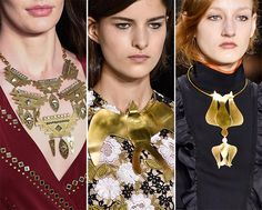 Fall/ Winter 2015-2016 Jewelry Trends: Breastplate Necklaces  #accessories #trends