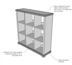 Large Cubby shelves - DIY Plans via Knock Off Wood / Ana White lots of home wood DIY Diy Wood Projects, Furniture Projects, Furniture Plans, Woodworking Projects, Home Furniture, Woodworking Videos, Woodworking Clamps, Woodworking Furniture, Cheap Furniture