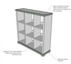 Large Cubby shelves - DIY Plans via Knock Off Wood / Ana White    lots of home wood DIY