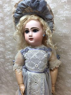 You could not ask for a more beautiful Jumeau! This 23 closed mouth Depose Tete Jumeau SGDG 10 has no cracks, hairlines, or restoration to her head.