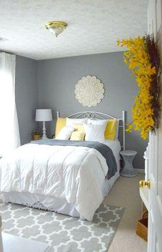 Graue Schlafzimmer Wandfarbe In 100 Beispielen. Schlafzimmer Ideen  Wandgestaltung Akzent über Dem Bett