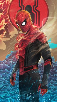Spiderman Flame Mobile Wallpaper (iPhone, Android, Samsung, Pixel, Xiaomi) - Best of Wallpapers for Andriod and ios Spiderman Spider, Amazing Spiderman, Marvel Comics, Marvel Art, Marvel Memes, Superhero Poster, Anime Superhero, Marvel Drawings, Avengers Wallpaper