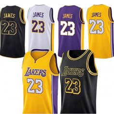858508af7 New Los Angeles Lakers Lebron James Jersey  23 Basketball Jersey Embroidery  2018