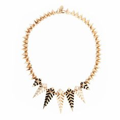 Enamel Spike #Necklace // another example of the #chevron #trend