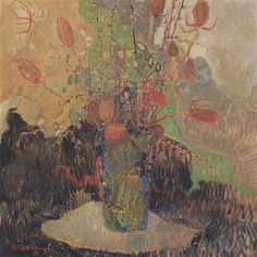 Albert Saverijs - A vase with flowers; Creation Date: 1910; Medium: oil on canvas